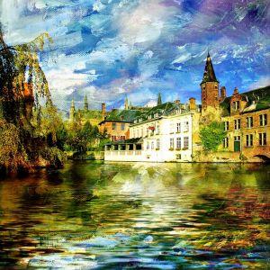 Старый канал в Бельгии