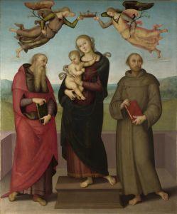 Перуджино Пьетро Мадонна с младенцем со святыми Иеронимом и Франциском