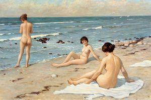 Фишер Поль Густав Пляжный мотив - женщины купаются