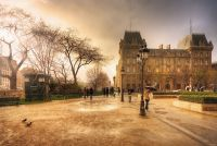 Вечерний дождь в Париже