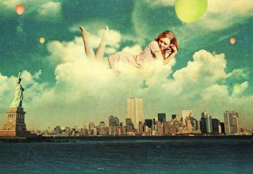 Красота женщины в облаках