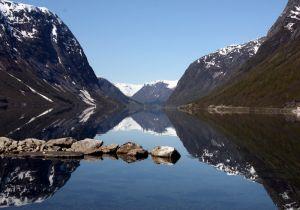 Пейзаж фьорд в Норвегии