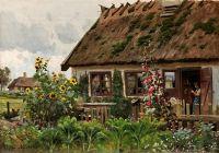 Изба и огород
