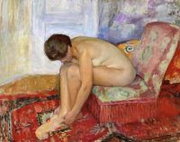 Обнаженная женщина, сидя