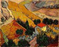 Пейзаж с домом и пахарем