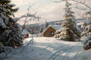 Менстед Петер Солнечный зимний пейзаж