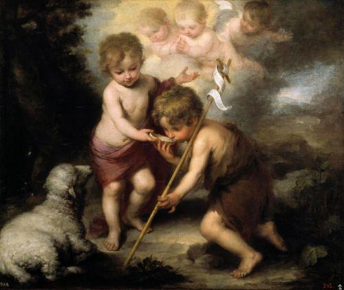 Юный Христос дает пить воду Святому Иоанну