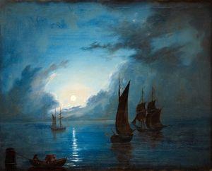 Ларсон Маркус Симеон Море при лунном свете