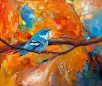 Синяя птица Церулеан певун