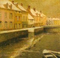 Канал в Брюгге, зимой