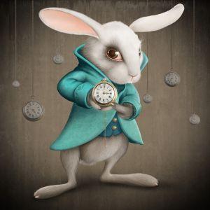 Фотокартины для интерьера Кролик с часами