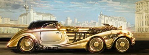 Золотой автомобиль
