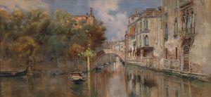 Рейна Антонио Мария де Blick auf einen Kanal in Venedig