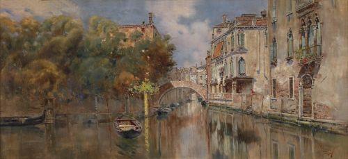 Blick auf einen Kanal in Venedig
