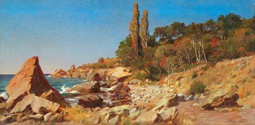 Сонячний день, берег моря в Криму