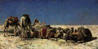 Верблюди поруч з криницею