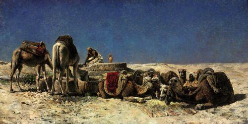 Верблюды рядом с колодцем