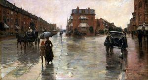 Гассам Чайльд Дождливый день, Бостон