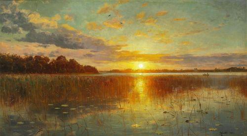 Захід сонця у датських фьордах