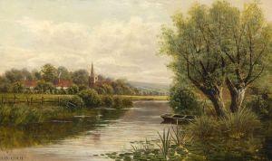 Гримшоу Джон Эткинсон Валлийский пейзаж реки