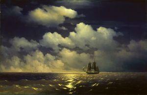 Бриг Меркурий после победы над двумя турецкими кораблями