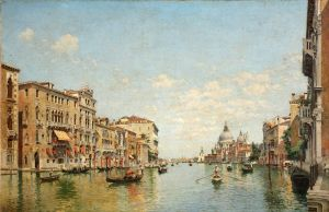 Дель Кампо Федерико View of the Grand Canal of Venicе