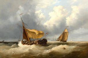 Тейлор Генри Кинг Голландские рыбаки в море