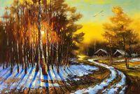 Деревенский зимний пейзаж