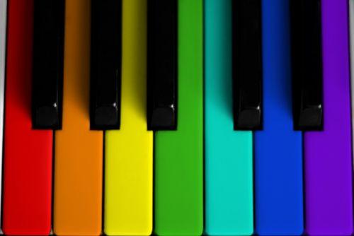 Цветное пианино