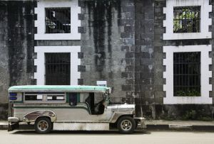 Винтаж джипни Интрамурос Манила Филиппины
