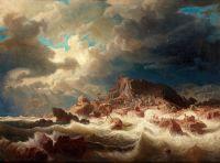 Бурное море с кораблекрушением
