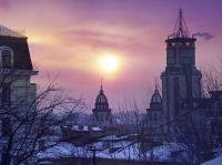 Ночной город Киев