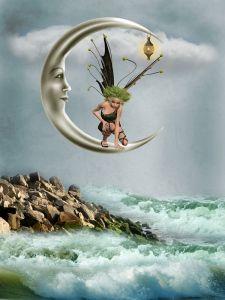 Фея на Луне