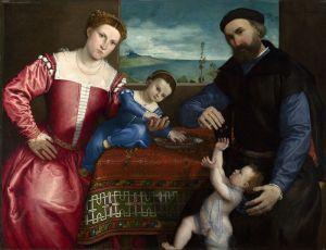 Лотто Лоренцо Портрет Джованни делла Вольта с женой и детьми