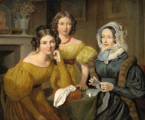 Агас Жак-Лоран Мадам Виейрес с дочерьми