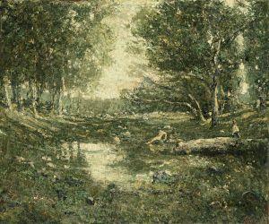 Лоусон Эрнест Bathers, Woodland