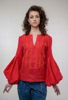 Вышитая блуза Струмивка красная