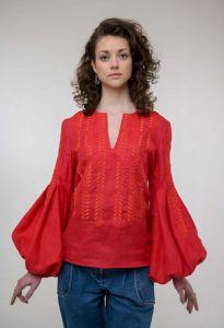 Жіночі вишиванки Вишита блуза Струмівка червона