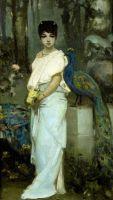 Молодая дама с павлином