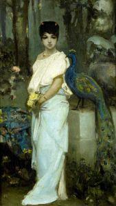 Котарбинский Вильгельм Молодая дама с павлином