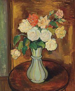Постимпрессионизм Ваза с розами на столе