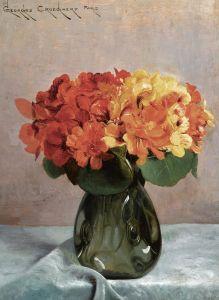 Кройгаерт Джорж Цветочный натюрморт с красолями