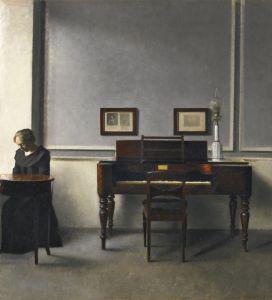 Хаммерсхей Вильгельм Ида в интерьере с клавикордом