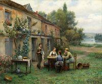 Кофепитие в саду
