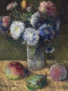 Луазо Гюстав Букет цветов с фруктами