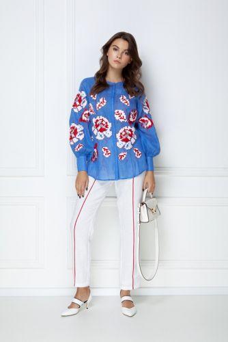«Камелия» голубая блуза - изображение 1