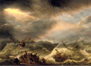 Барокко Кораблекрушение в бурном море