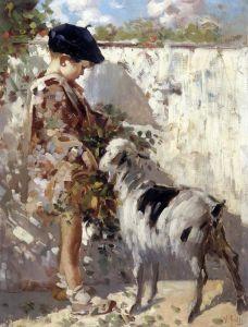 Иролли Винченцо Портрет мальчика с козой