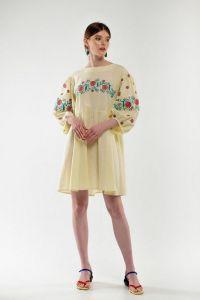 Женские вышиванки Платье вышиванка Зозулька желтое
