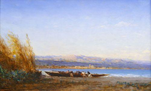 Деревянная лодка в Босфоре